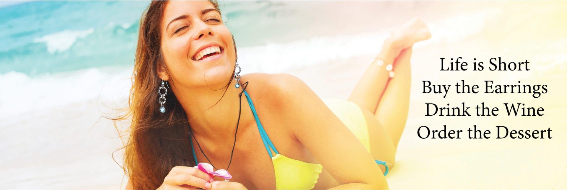 NEW Woman on Beach